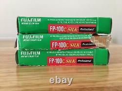 3x Fuji FP 100C SILK Instant Polaroid Pack Film 2014/2015 kept in fridge