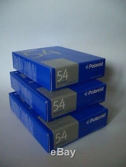 3x POLAROID 54 Film OVP ISO 100 / 4x5 Black & White / 60 Fotos Typ 55 / 545 Back