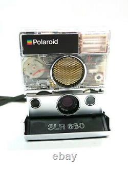 Beautiful Refurbished Polaroid 680 Camera with Custom Transparent Shutter Housing