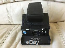 Black Polaroid SX-70 Alpha 1 SE Instant Camera-Film&Flash Tested-Great-Ships Now