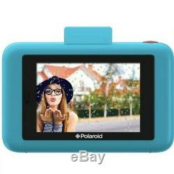 Digital Cameras Polaroid Instant Print Photo Snap Touch LCD Display (Blue)