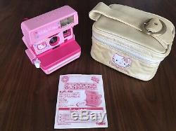 Hello Kitty Polaroid 600 Instant Camera Pink Limited Sanrio Vintage rare JAPAN