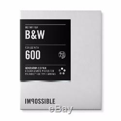 Impossible Instant Black & White 2.0 Film for Polaroid 600-Type Cameras 10 Pack