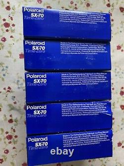 Joblot Polaroid Originals SX-70 Time-Zero Instant COLOUR Film DATE 05/96 10/96