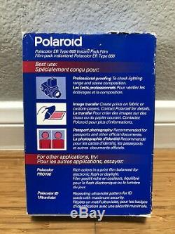 LOT 13 Boxes Polaroid 669 Polacolor ER Instant Pack Film NEW Unopened EXP 09/96