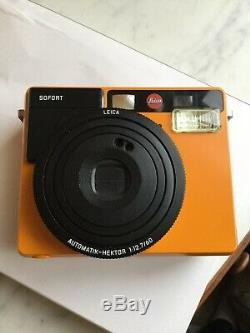Leica sofort Instant Camera Polaroid Orange Without Box And Charger