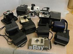 Lot OF 14 Polaroid Instant Cameras Untested SPECTRA SUN 600 LAND ONE STEP 660