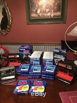 Lot of Vintage Polaroid 779+600 + Spectra Film 32+4 Cameras You Get All