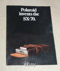 MINT! Polaroid SX-70 Land Camera in Original Box with Manual (NOS)