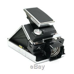 MiNT SLR670-M Black Polaroid Camera 600 SX-70 film Tele attachment and flash