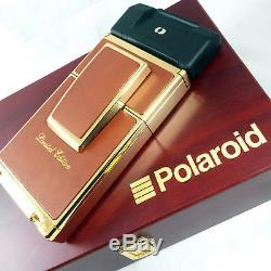 Mint Condition GOLD Polaroid SX70 OneStep Sonar Camera Use with600 SLR680 Film