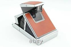 Mint+++ Polaroid SX-70 Land Camera Instant Film Brown Leather From JAPAN