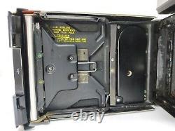 NEAR MINT-POLAROID 190 LAND CAMERA Tominon 114mm f3.8 + Zeiss IKON Finder #543