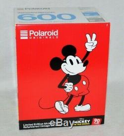 NEW Polaroid 600 Camera Disney Mickey Mouse 90th Anniversary Edition Film Lenses