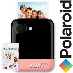 NEW Polaroid POP 3x4 Instant Print Digital Camera PINK + 10 Pack Zink Paper