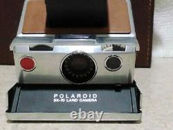 Near Mint Polaroid SX-70 Land Camera Brown Leather case +Extras Tote G1