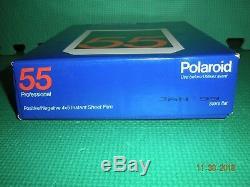 POLAROID 55 Black & White Instant Film ISO 50/18, 20 Sheets NOS (Jan 1999)