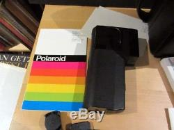 POLAROID Lot SX-70 SONAR Land Camera, SX-70 TELE/1.5 Lens, PALATRONIC FLASH +