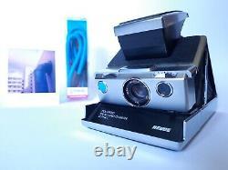 POLAROID REVUE SX 70 Alpha 1 Blue Button INSTANT CAMERA Sofortbild Kamera +Strap