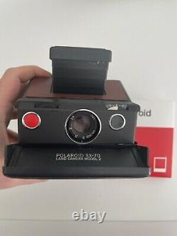 POLAROID SX70 Camera, TESTED FULLY WORKING, POLAROID COLOUR FILM PACK
