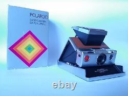 POLAROID SX 70 Alpha 1 INSTANT LAND CAMERA / Silver Brown / Sofortbild Kamera