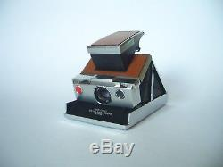 POLAROID SX 70 Alpha 1 LAND CAMERA / Silver Brown / Sofortbild Kamera + Strap