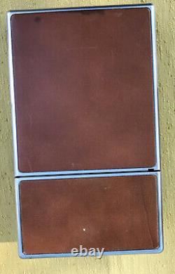 POLAROID SX-70 Chrome Brown Leather Camera Bundle