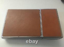 POLAROID SX-70 Chrome Brown Leather Camera -excellent