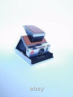 POLAROID SX 70 INSTANT LAND CAMERA / Silver Brown / Sofortbild Kamera