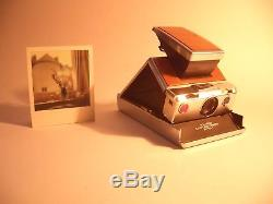 POLAROID SX 70 LAND CAMERA / Silver Brown / Sofortbild Kamera + Manual + Box