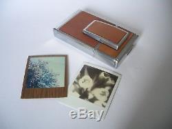 POLAROID SX 70 LAND CAMERA Silver-Brown / Sofortbild Kamera / SX 70 ALPHA