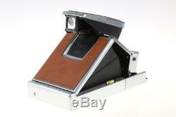 POLAROID SX-70 Land Camera braun-silber SNr J405377219