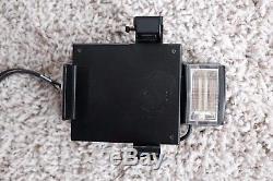 POLAROID SX-70 Land Camera chrome/tan leather with Argus Flash- TESTED