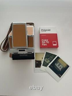 POLAROID SX-70 TAN Land Camera, TESTED FULLY WORKING, POLAROID BAG, FILM