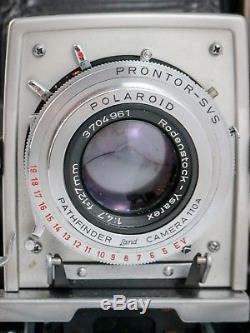 Polaroid 110A Converted for Pack Film Rodenstock Ysarex 127mm 4.7 Excellent