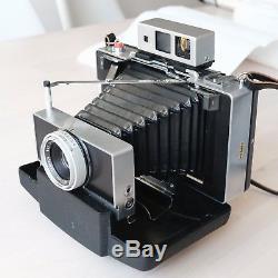 Polaroid 180 Land Camera Sofortbildkamera mit Tominon Objektiv und viel Zubehör