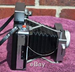 Polaroid 180 Professional Manual Camera, with Case, Flash, Hood, etc Film TESTED