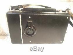 Polaroid 195 Instant Land Camera 114mm f3.8 Tominon lens & manual shutter. WORKS