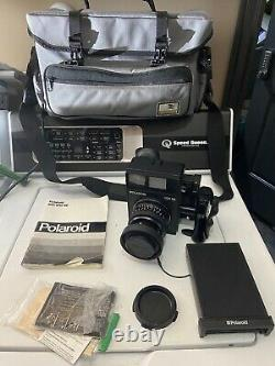 Polaroid 600SE Instant Film Camera + 127mm Mamiya Lens Rare Nice