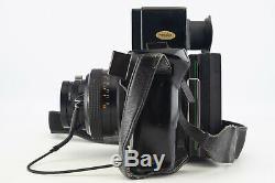 Polaroid 600SE Instant Film Camera with Mamiya 127mm f/4.7 Lens Grip Back V06