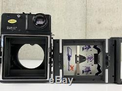 Polaroid 600SE + Mamiya F4.7 127mm + F5.6 75mm Sold As Is From Japan