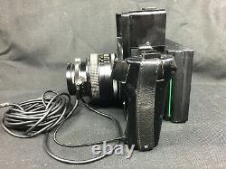 Polaroid 600SE + Mamiya Lens 127mm f/4.7 Instant Film Camera Black Made in JAPAN