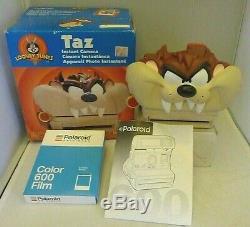 Polaroid 600 Instant Camera Taz Tasmanian Devil +Box Manual & 1 NEW FILM -TESTED
