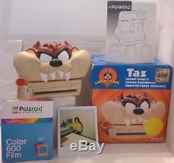 Polaroid 600 Instant Camera Taz Tasmanian Devil +Box, Manual & NEW FILM -TESTED