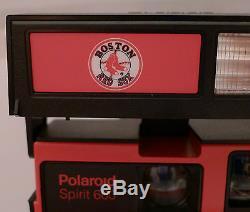 Polaroid 600 Instant Film Camera- Boston Red Sox +Box & Manual RARE PROMO TESTED
