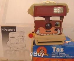 Polaroid 600 Instant Film Camera Taz Tasmanian Devil 1999 +Box & Manual TESTED