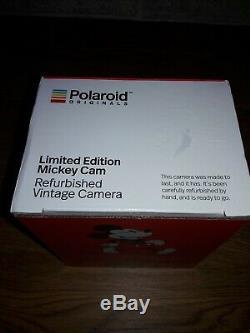 Polaroid 600 Mickey Cam Limited Edition Refurbished Vintage Camera