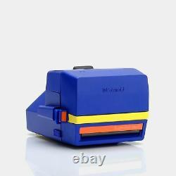 Polaroid 600 Supercolor Esprit Blue Instant Film Camera