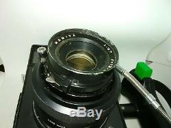 Polaroid 600se workhorse custom full view, 127mm lens, packfilm, 120 custom back