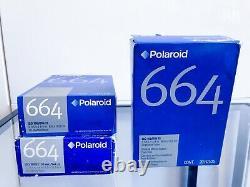 Polaroid 664 film 3 double packs Very Rare